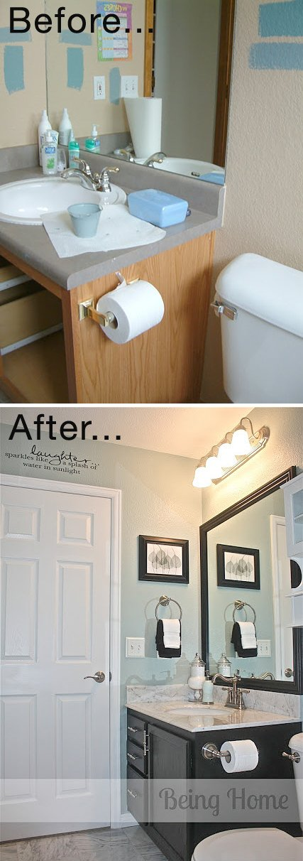 Tiny Bathroom Makeovers Decorating Your Small Space