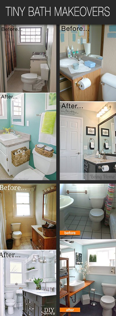 Follow Along With Their Bathroom Before And Afters, And Then Plan To DIY  One Of These Tiny Bathroom Makeovers! You Can Do This!
