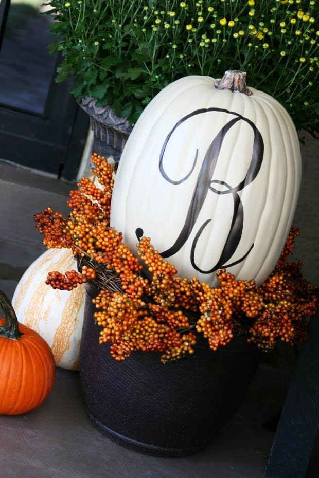 Pumpkin Decorating Ideas 11 Ideas For Pretty Pumpkins