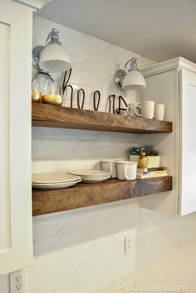 From Kris At U0027Driven By Decoru0027 Her Kitchen Remodel Uses Exactly The Type Of  Clever Kitchen Idea We Are Talking About. This Open Shelving Even Wraps  Around ...
