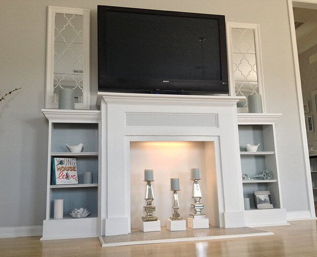Faux Fireplace Ideas and Projects