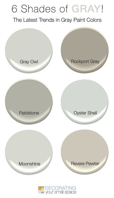 Because of the gray craze, paint manufacturers have obliged us with more  gray choices that any one person could possible considermaking it  confusing to ...