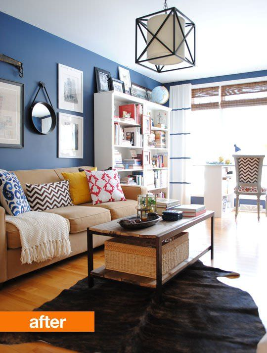 Small Living Room Makeovers Decorating Your Small Space - Apartment therapy living room