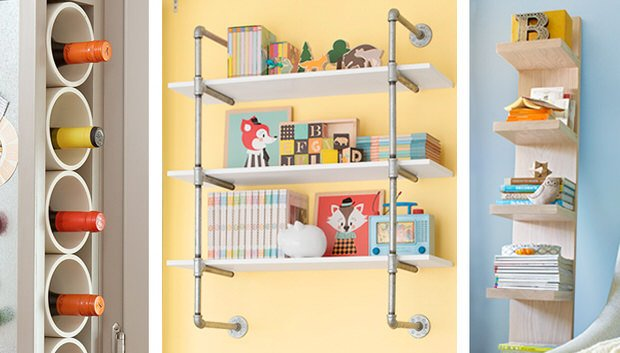 Genial Our Next Project Is A Pipe Frame Wall Shelf From U0027Lowesu0027u2026 Easy Enough To  Put Together In Just A Few Minutes! And A Few More Easy Diy Storage  Projects There ...