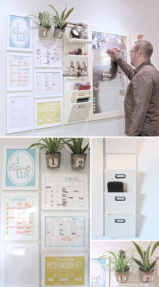 Diy Message Center Projects Decorating Your Small Space