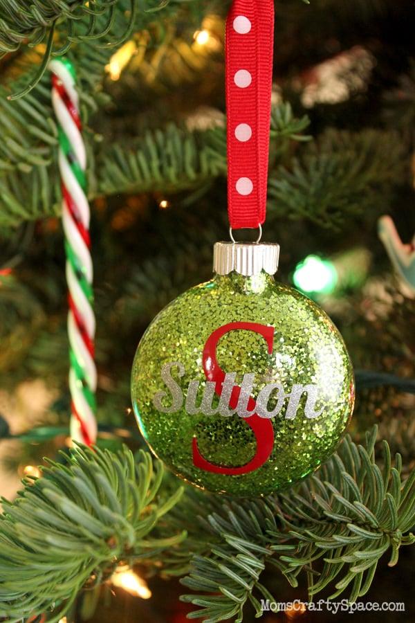Glitter+Personalized+Ornaments
