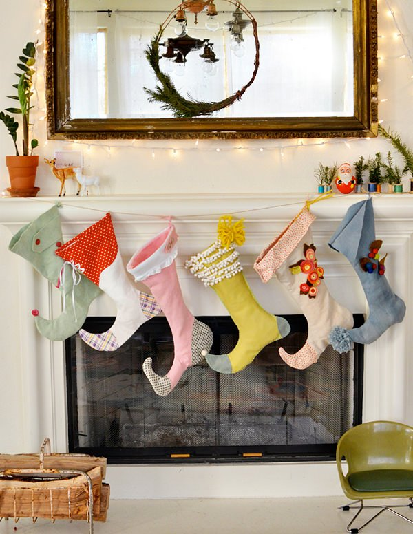 diy stockings - Homemade Christmas Stockings