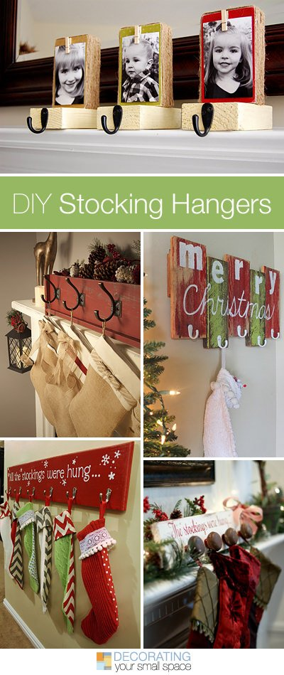 6 Weeks of Holiday DIY : Week 1 - DIY Stocking Hangers ...