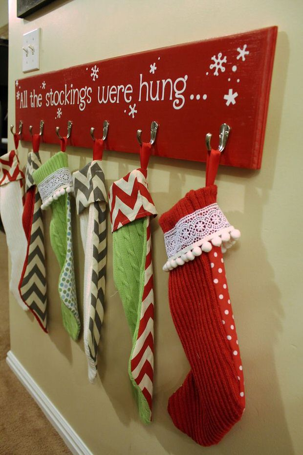 6 Weeks Of Holiday DIY Week 1 Stocking Hangers