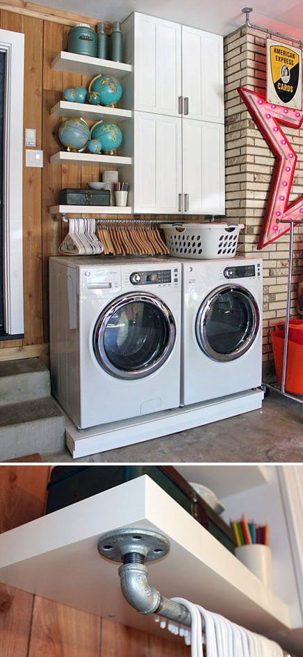 10 Awesome Ideas For Tiny Laundry Spaces Ohmeohmy Blog