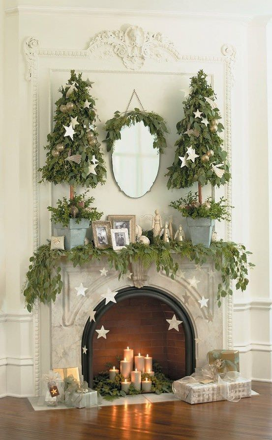 how to decorate your fireplace for christmas - How To Decorate A Fireplace For Christmas