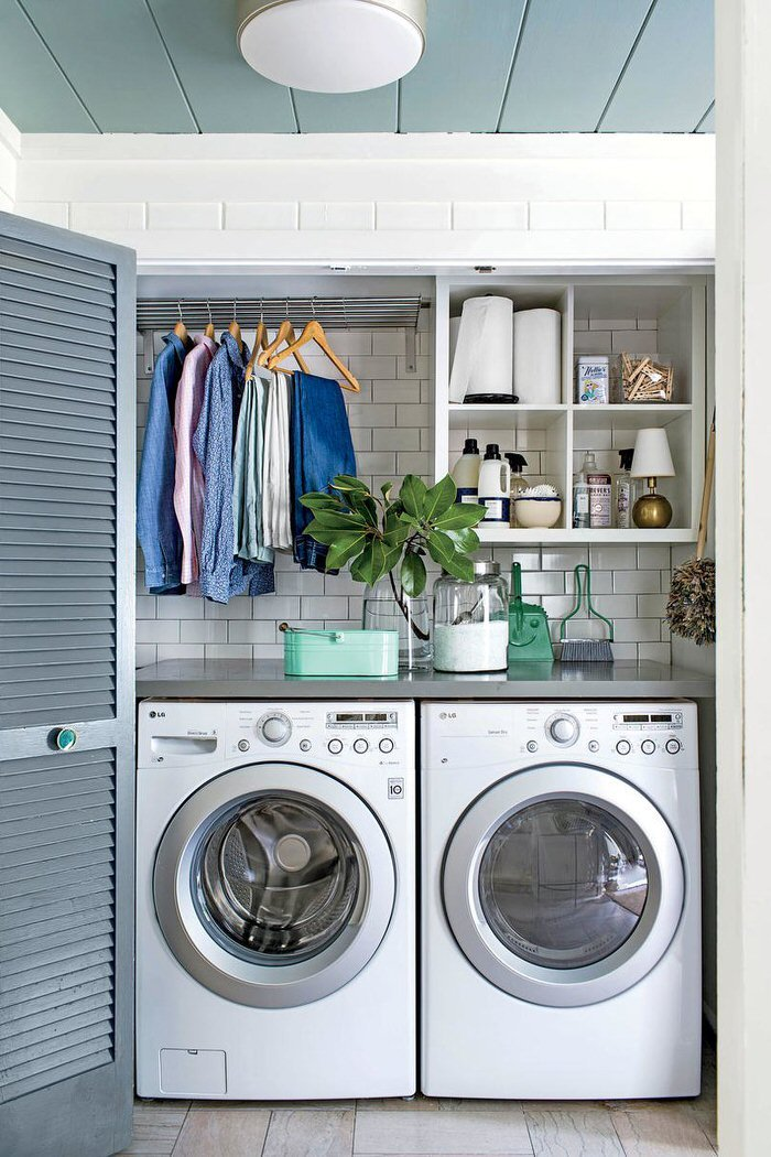 Plans From Thrifty And Chic To Create This Clever Diy Laundry Storage Step By Photos Complete Tutorial Great Idea For A Small Room