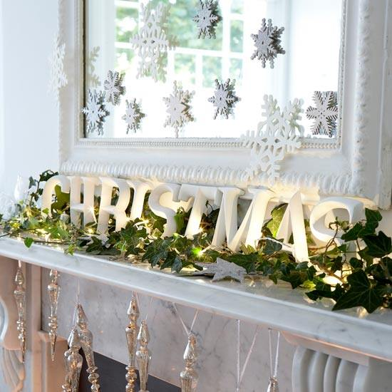 Christmas---Modern---Mantel-decoration