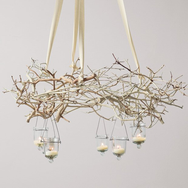 Rustic Handmade Light Fixture Twig Chandelier Branch: Branch Out! Decorating With Branches
