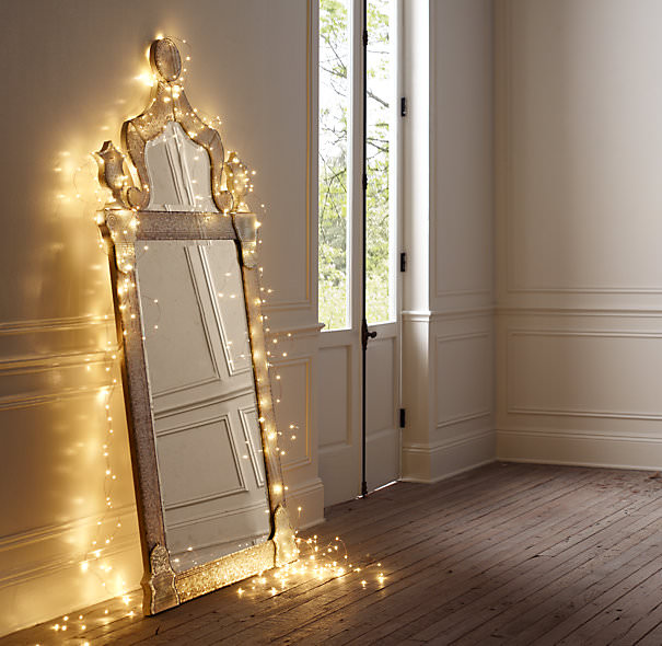 Home Decor Lighting. This  yum sign is a cute idea by Apartment Therapy for the design office Photo Sarah Rainwater Hooks or even push pins could help create any word Starry String Lights Year Round Home Decor Decorating