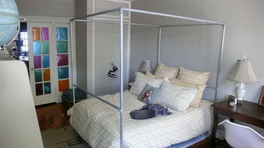 Diy Pvc Canopy Bed Frame Home Design Ideas