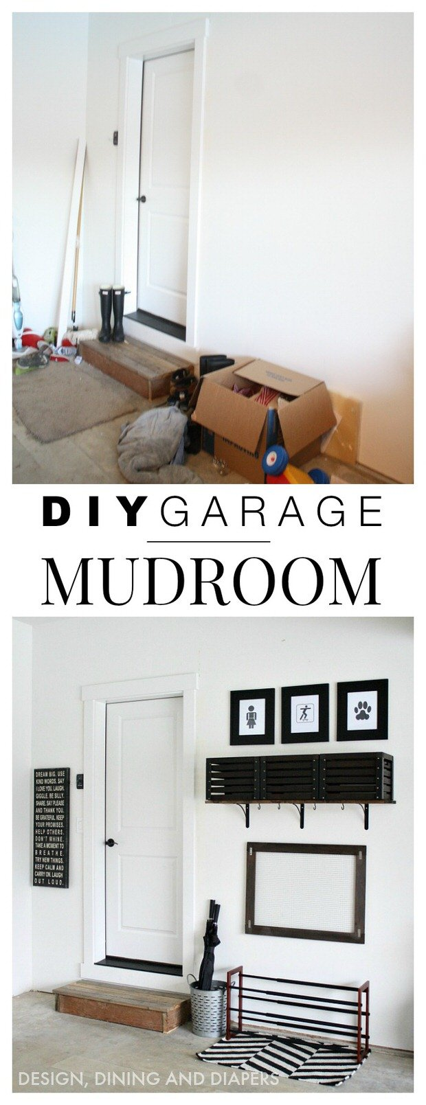 Garage makeover projects decorating your small space for Garage mudroom designs