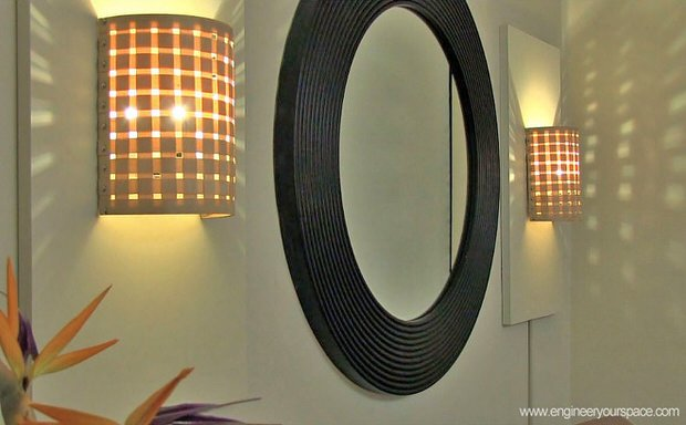 DIY sconce lights - 2