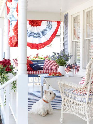 Front Porch Decorating Ideas for the 4th of July