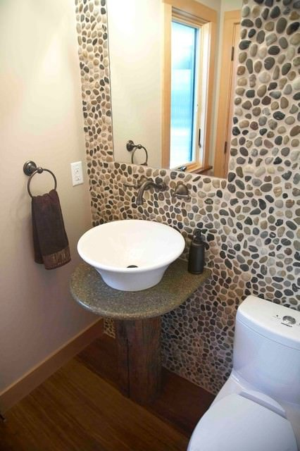 Stone and brick accent wall projects decorating your for Diy stone projects