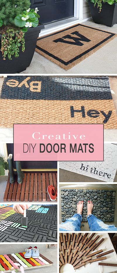 Creative Front Door Mats You Can Make Yourself