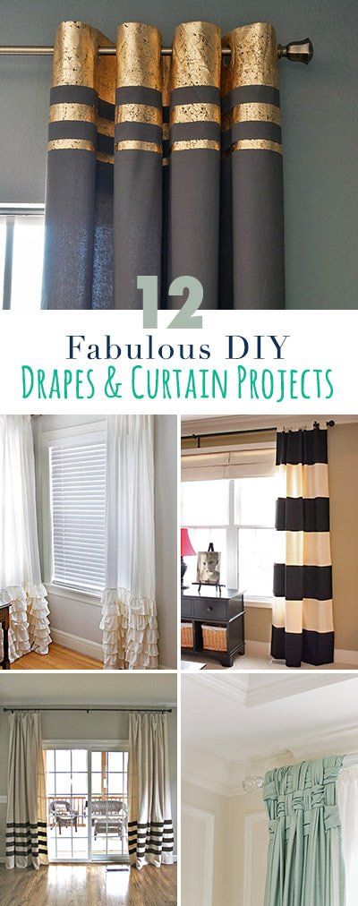 12 Projects For Fabulous Diy Curtains Amp Drapes