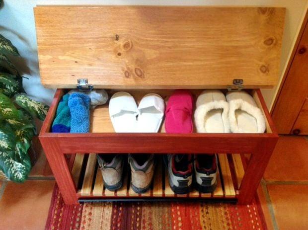 DIY Storage Benches