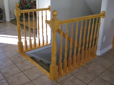 DIY Stair Railing Projects and Makeovers 23