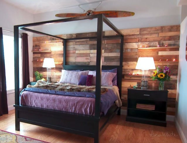 diy pallet wall easy how to14