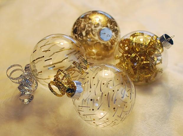 Easy DIY Paint Pen Christmas Ornaments