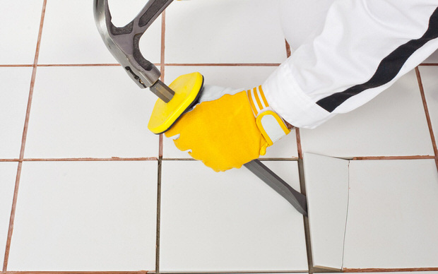 How to tile floors - 8