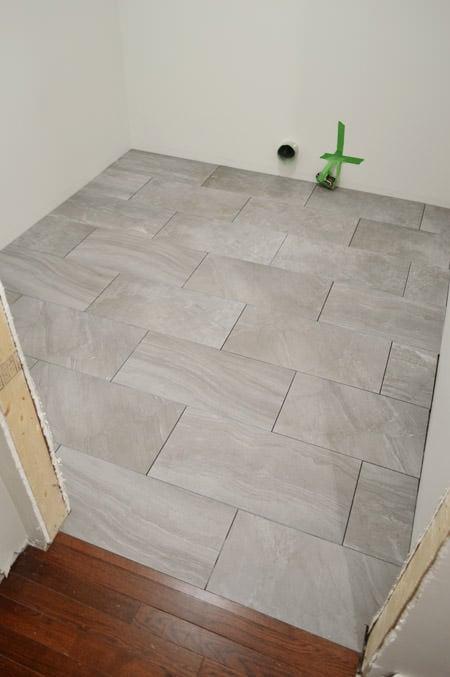 How to tile floors -9