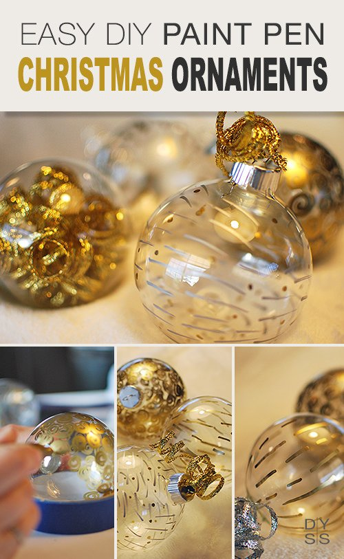 Diy Christmas Ornaments As Gifts.Easy Paint Pen Diy Ornaments Ohmeohmy Blog