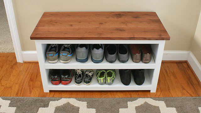 shoe storage projects for small spaces decorating your small space. Black Bedroom Furniture Sets. Home Design Ideas