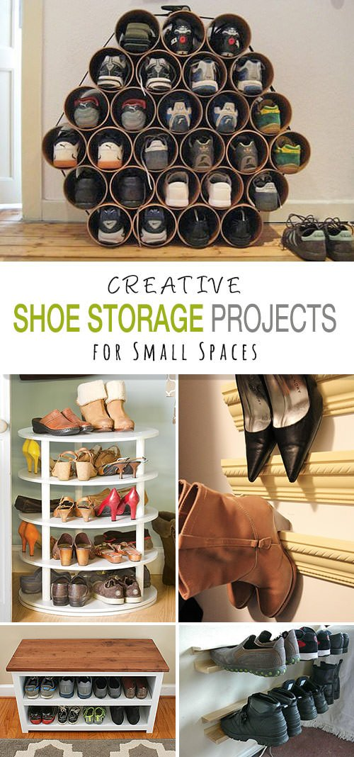 shoe storage diy projects for small spaces decorating your small space. Black Bedroom Furniture Sets. Home Design Ideas