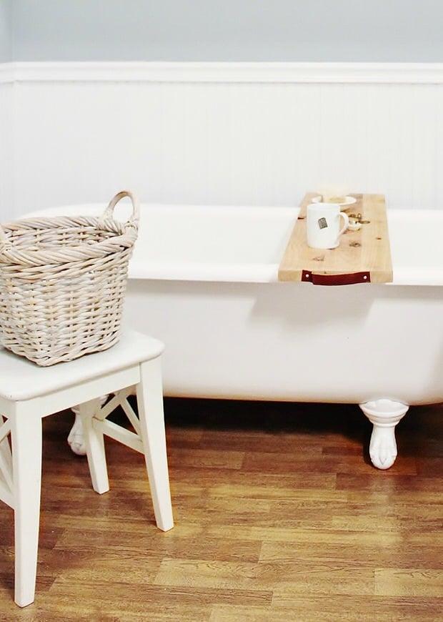 DIY Spa Tub Caddies & Bath Trays | Decorating Your Small Space