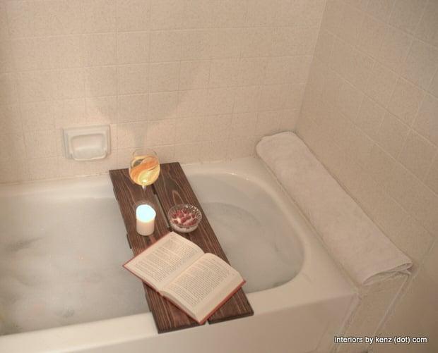 Diy Spa Tub Caddies Amp Bath Trays Decorating Your Small Space