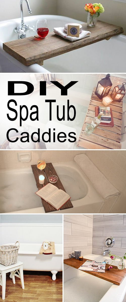 DIY Spa Tub Caddies & Bath Trays