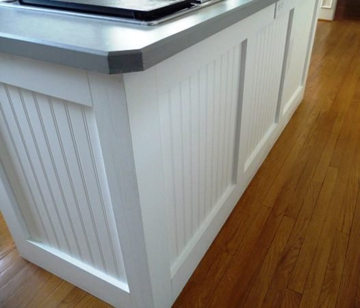wainscoting on kitchen island 10 diy projects how to install beadboard and more 6927