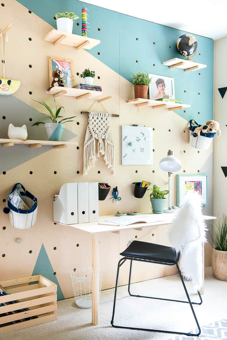 New & Modern DIY Pegboard Ideas | OhMeOhMy Blog