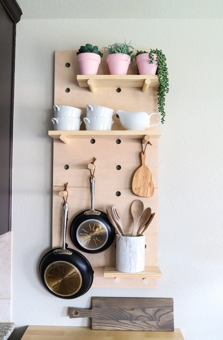 Here Is A Fresh Take On Pegboard Ideas. These Bright Pink Circle Pegboard  Shelves Are From U0027Bride U0026 Wolfeu0027, But Could Easily Be DIYu0027ed.