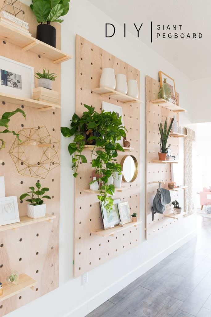 This DIY Pegboard Idea From U0027Fall For DIYu0027 Will Fix That! She Made These Pegboard  Storage Shelves Just Perfect For Standing ...