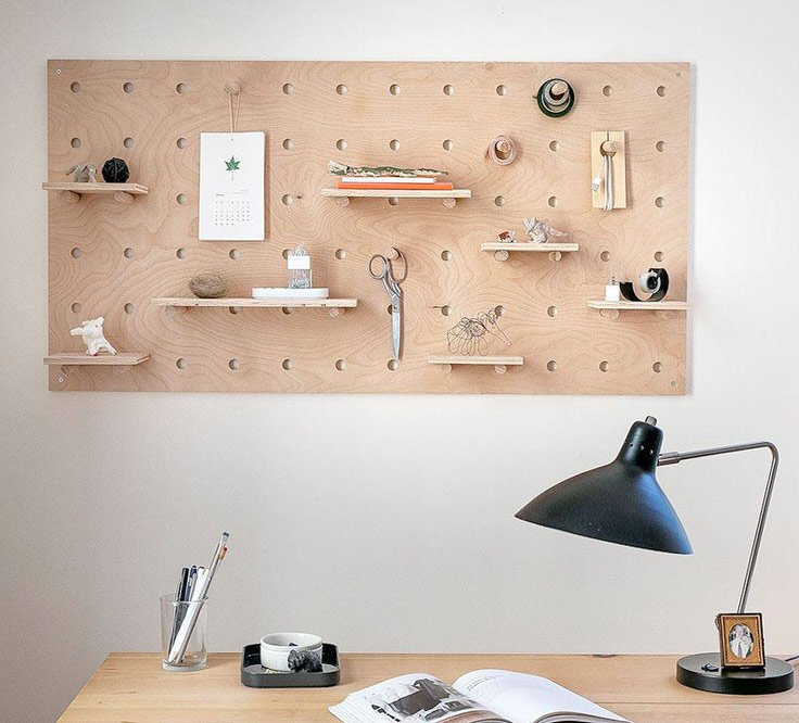 These Giant Pegboard Shelves Would Be Perfect For My Home Office Desk. From  U0027Organized Homeu0027, This Tutorial Shows You How To Take Plywood And Make It  Into ...