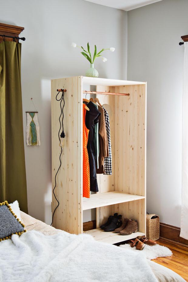 Wonderful Wardrobe Amp Clothing Rack Diy Projects