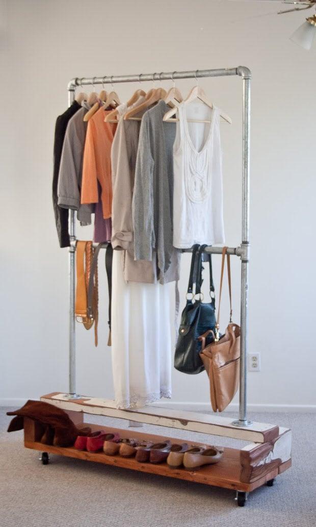 Wonderful Wardrobe Amp Clothing Rack Diy Projects