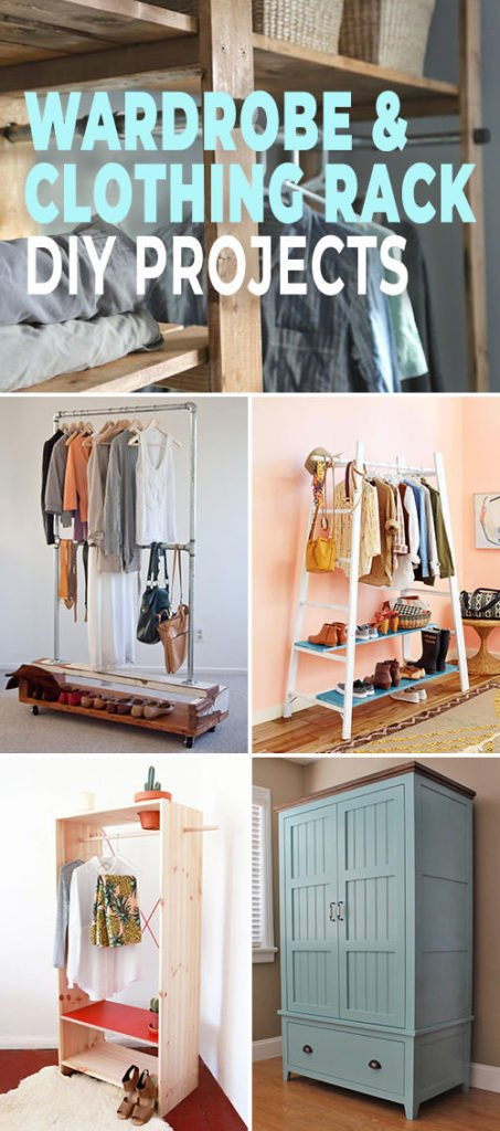 Wonderful Wardrobe & Clothing Rack Projects - tall pin for Pinterest