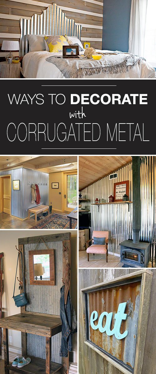 First We Have A Corrugated Metal Headboard From Sarah Paslay This Project Fits In Perfectly With Rustic Room Try Using Butcher Paper To Draw