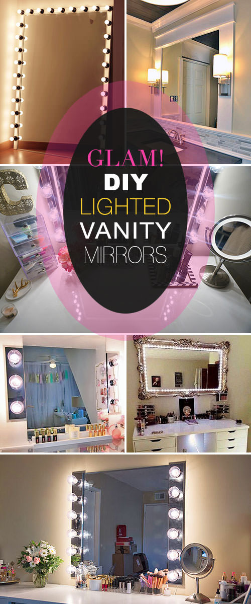 DIY Light Up Vanity Mirror Projects