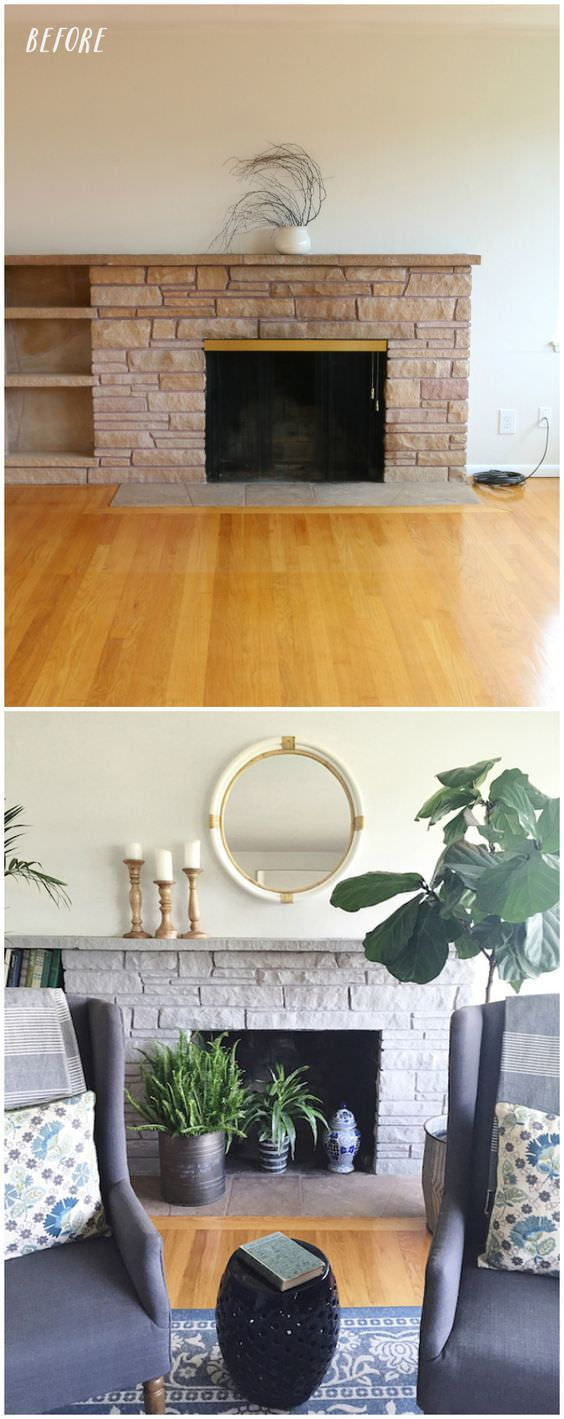 Fireplace makeover-5
