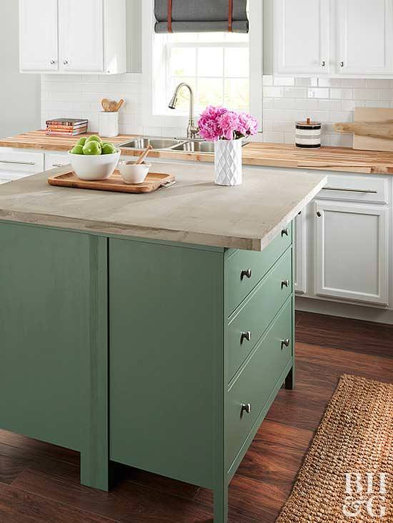 Charmant Learn How To Make A Kitchen Island From Two Dressers And A Concrete Top  From U0027BHGu0027. This Tutorial Even Has Instructions For Making The Island  Countertop!